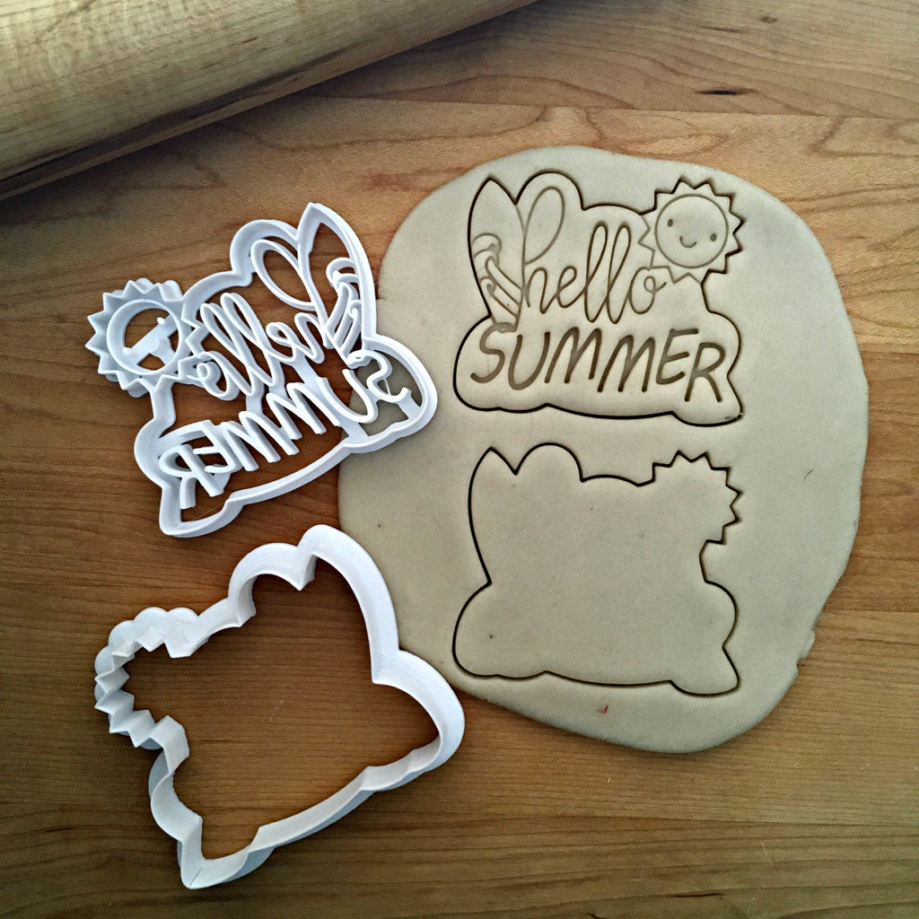 Set of 2 Hello Summer Cookie Cutter/Dishwasher Safe