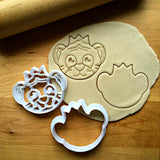Set of 2 Tiger with Crown Cookie Cutters/Dishwasher Safe