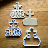 Set of 2 Nautical Number 1 Cookie Cutters/Dishwasher Safe