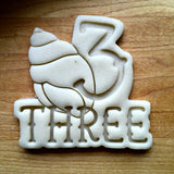 Nautical Number 3 Cookie Cutter/Dishwasher Safe