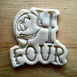 Nautical Number 4 Cookie Cutter/Dishwasher Safe