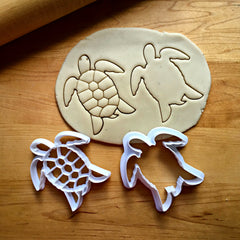 Set of 2 Sea Turtle Cookie Cutters/Dishwasher Safe