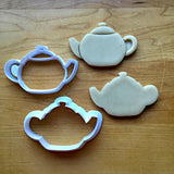 Set of 2 Teapot Cookie Cutters/Dishwasher Safe