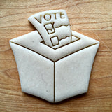 Ballot Box Cookie Cutter/Dishwasher Safe