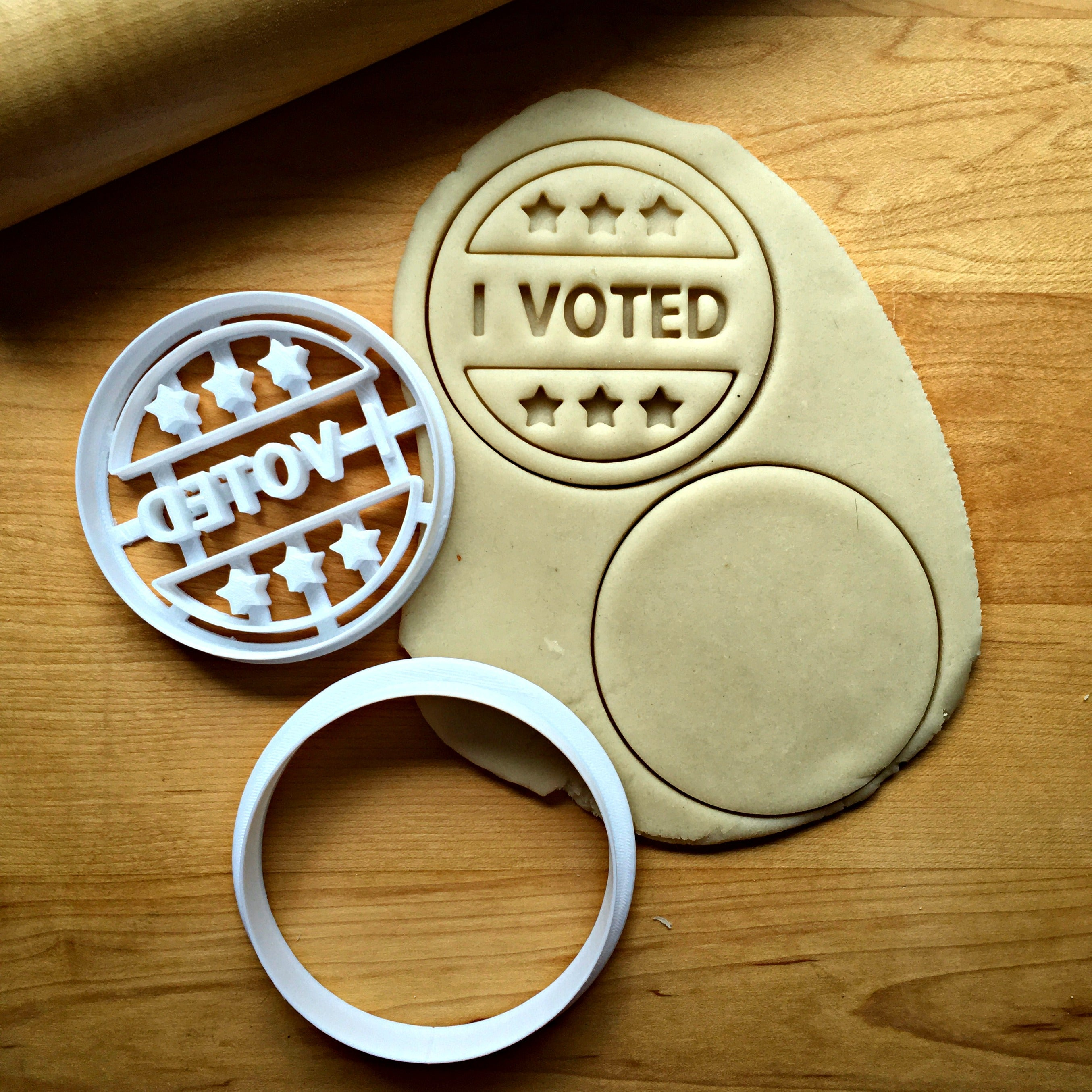 I Voted Cookie Cutter/Dishwasher Safe