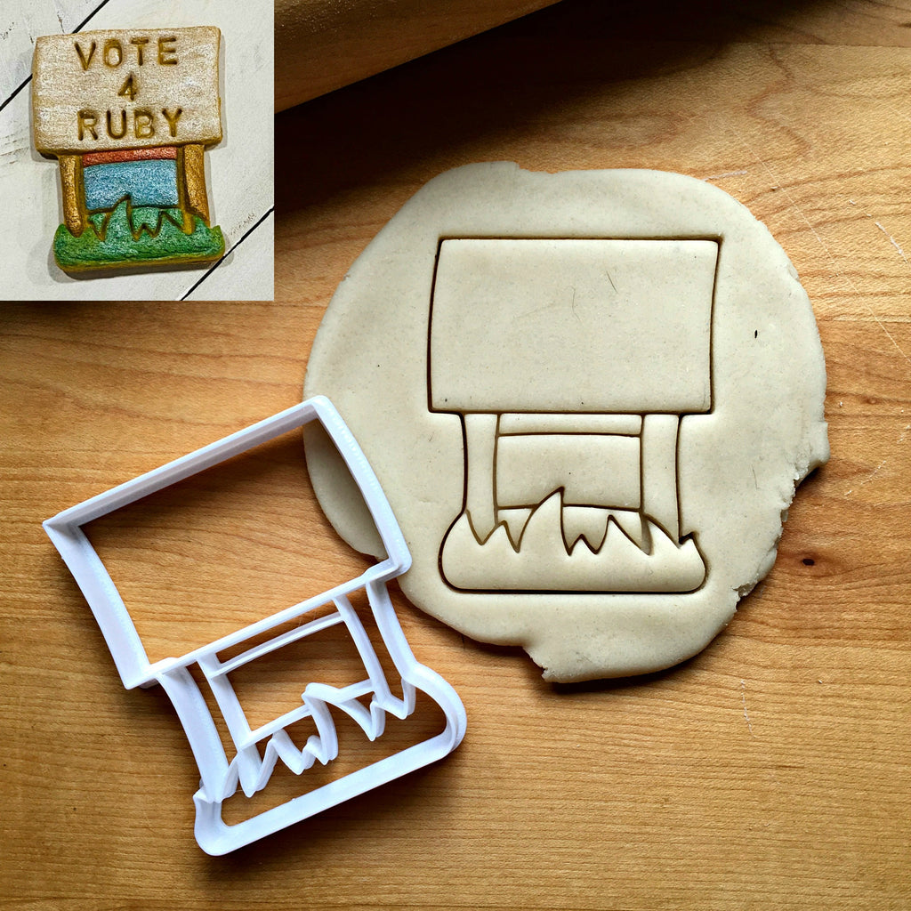 Yard Sign Cookie Cutter/Dishwasher Safe