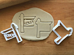 Set of 2 Sold Sign Cookie Cutters/Dishwasher Safe