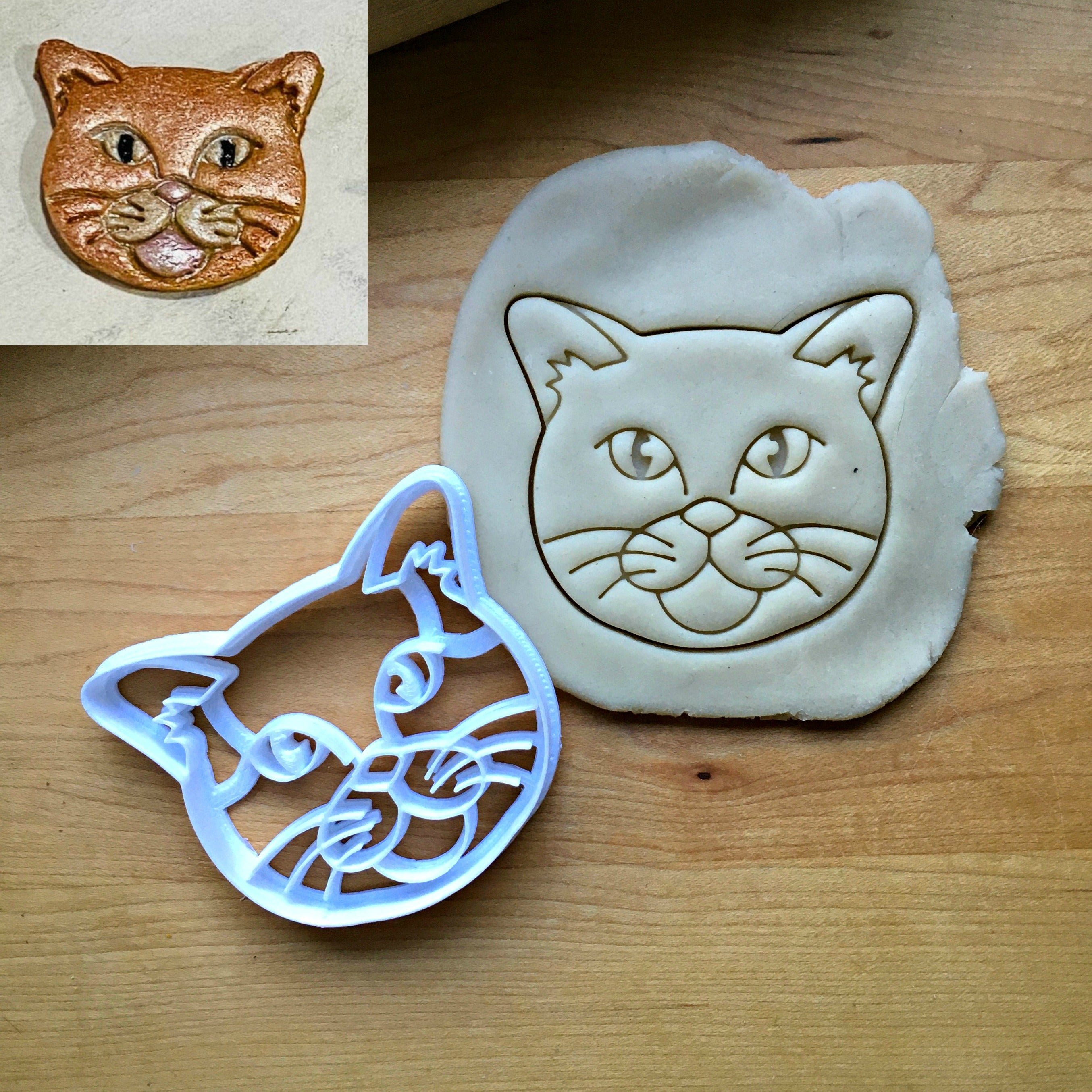 Short Haired Cat Cookie Cutter/Dishwasher Safe