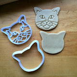 Set of 2 Short Haired Cat Cookie Cutters/Dishwasher Safe