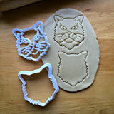 Set of 2 Long Haired Cat Cookie Cutters/Dishwasher Safe