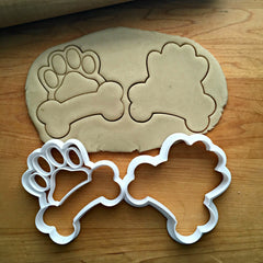 Set of 2 Dog Bone Frame Cookie Cutters/Dishwasher Safe