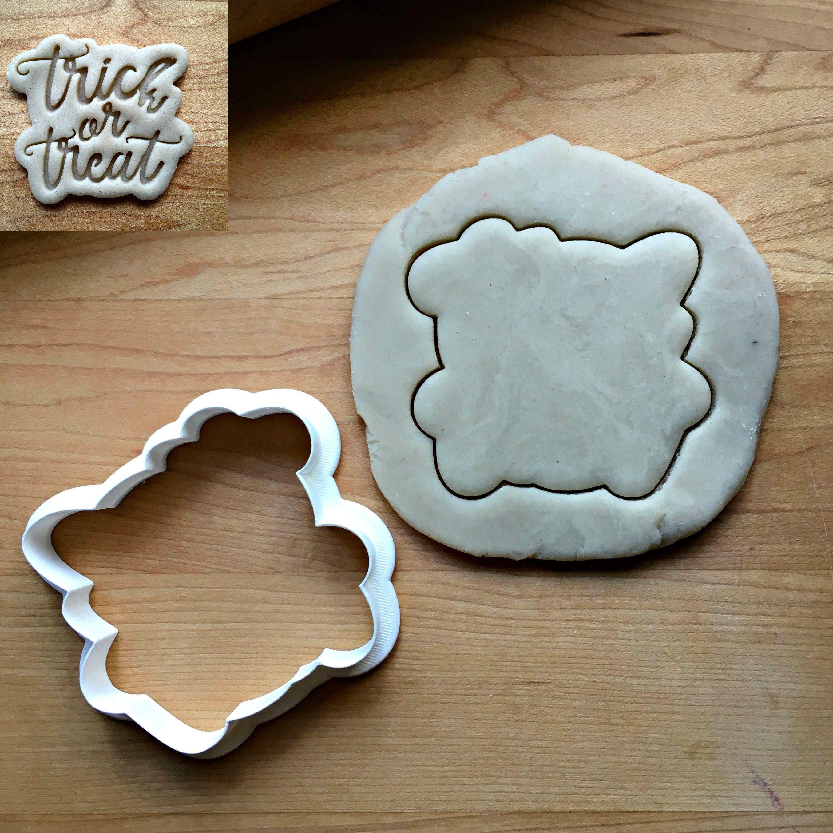 Trick or Treat Script Cookie Cutter/Dishwasher Safe