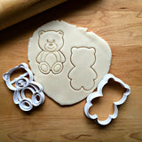 Set of 2 Teddy Bear Cookie Cutters/Dishwasher Safe