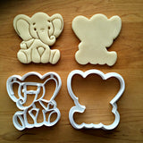 Set of 2 Baby Elephant Cookie Cutters/Dishwasher Safe