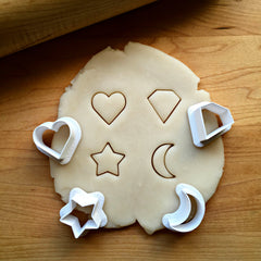 Set of 4 Cookie Cutter Bits/Multi-Size/Dishwasher Safe
