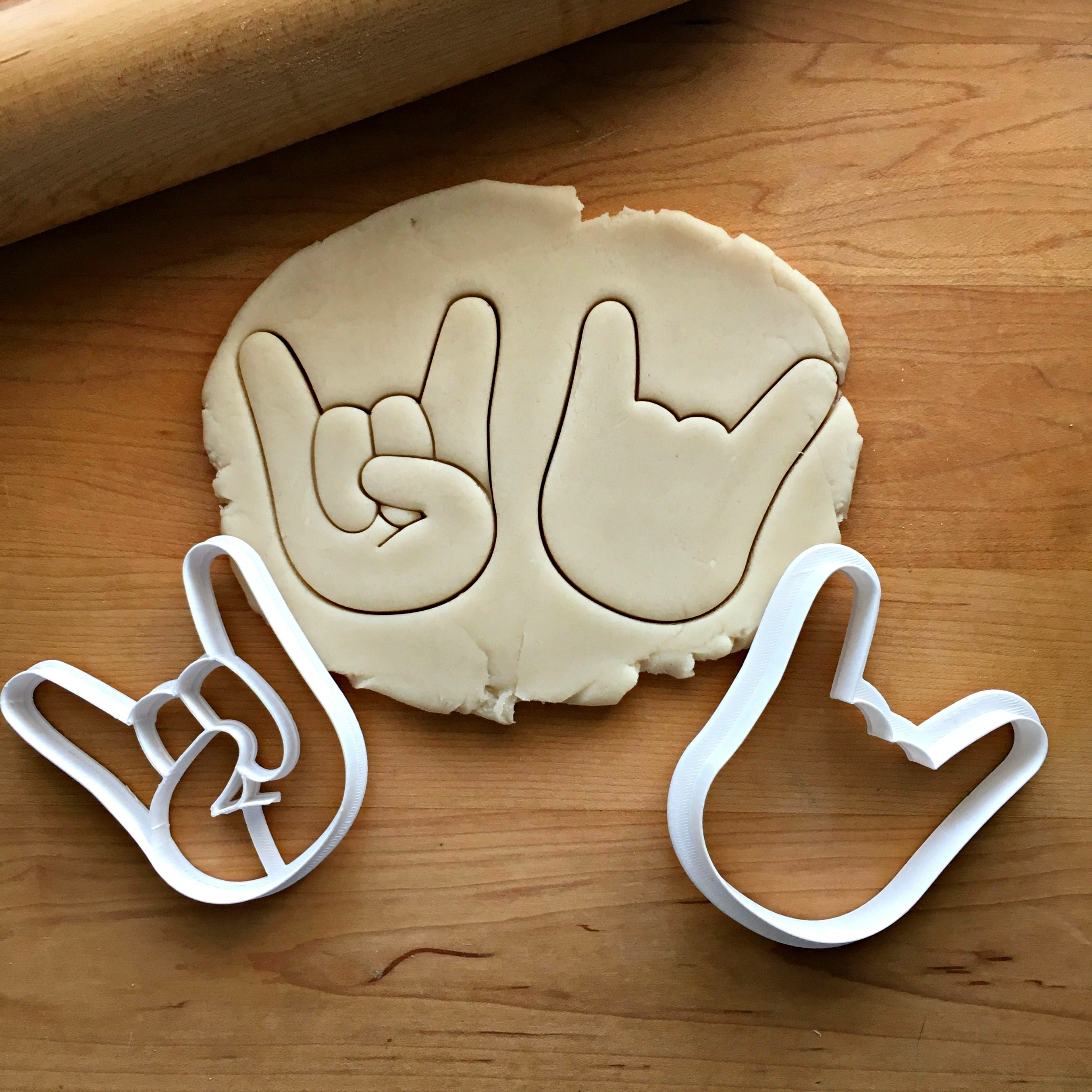 Set of 2 Sign of the Horns Cookie Cutters/Dishwasher Safe