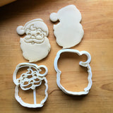 Set of 2 Classic Santa Claus Cookie Cutters/Dishwasher Safe