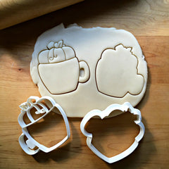 Set of 2 Pumpkin Mug Cookie Cutters/Dishwasher Safe