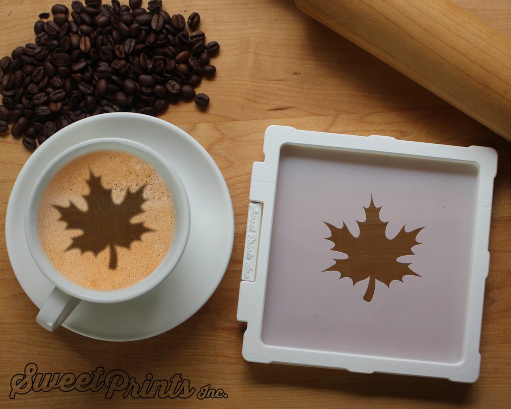 Maple Leaf Cookie Stencil/Coffee Stencil