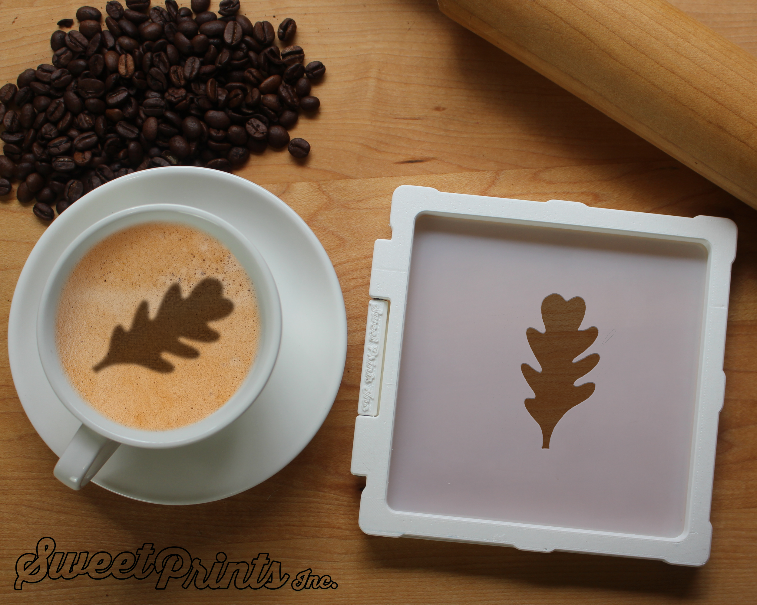 Oak Leaf Cookie Stencil/Coffee Stencil