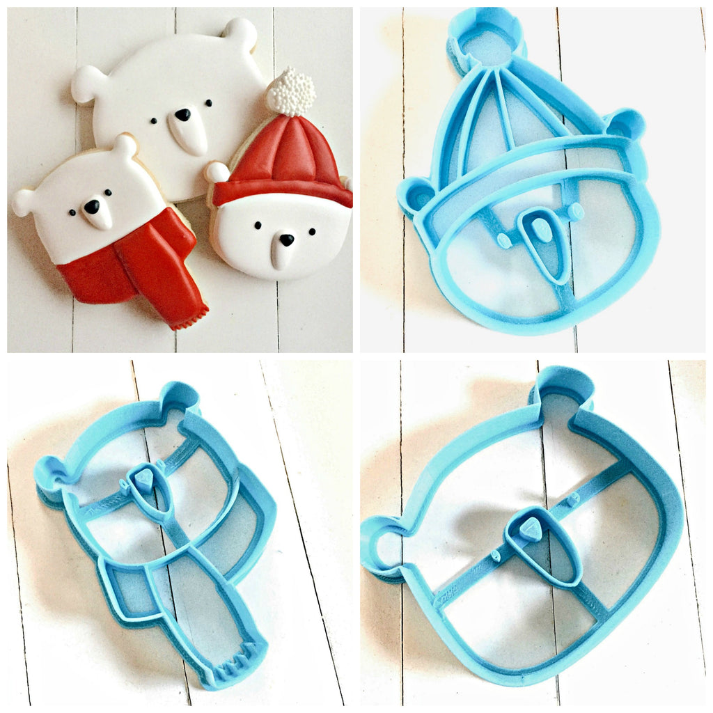 Set of 3 Cute Bear Cookie Cutters/Dishwasher Safe