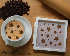 Stars Mix Cookie Stencil/Coffee Stencil