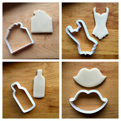 Set of 4 Sweetheart Cookie Cutters/Dishwasher Safe