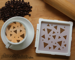 Triangle Mix Cookie Stencil/Coffee Stencil