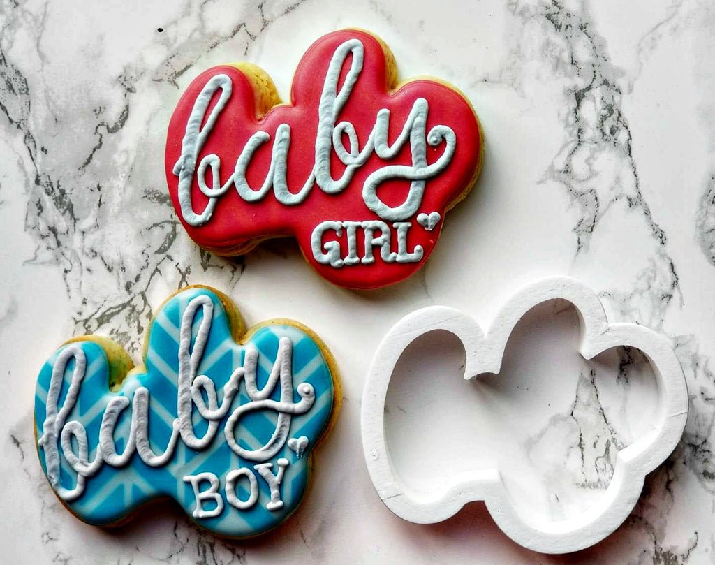 Baby Script Cookie Cutter/Dishwasher Safe