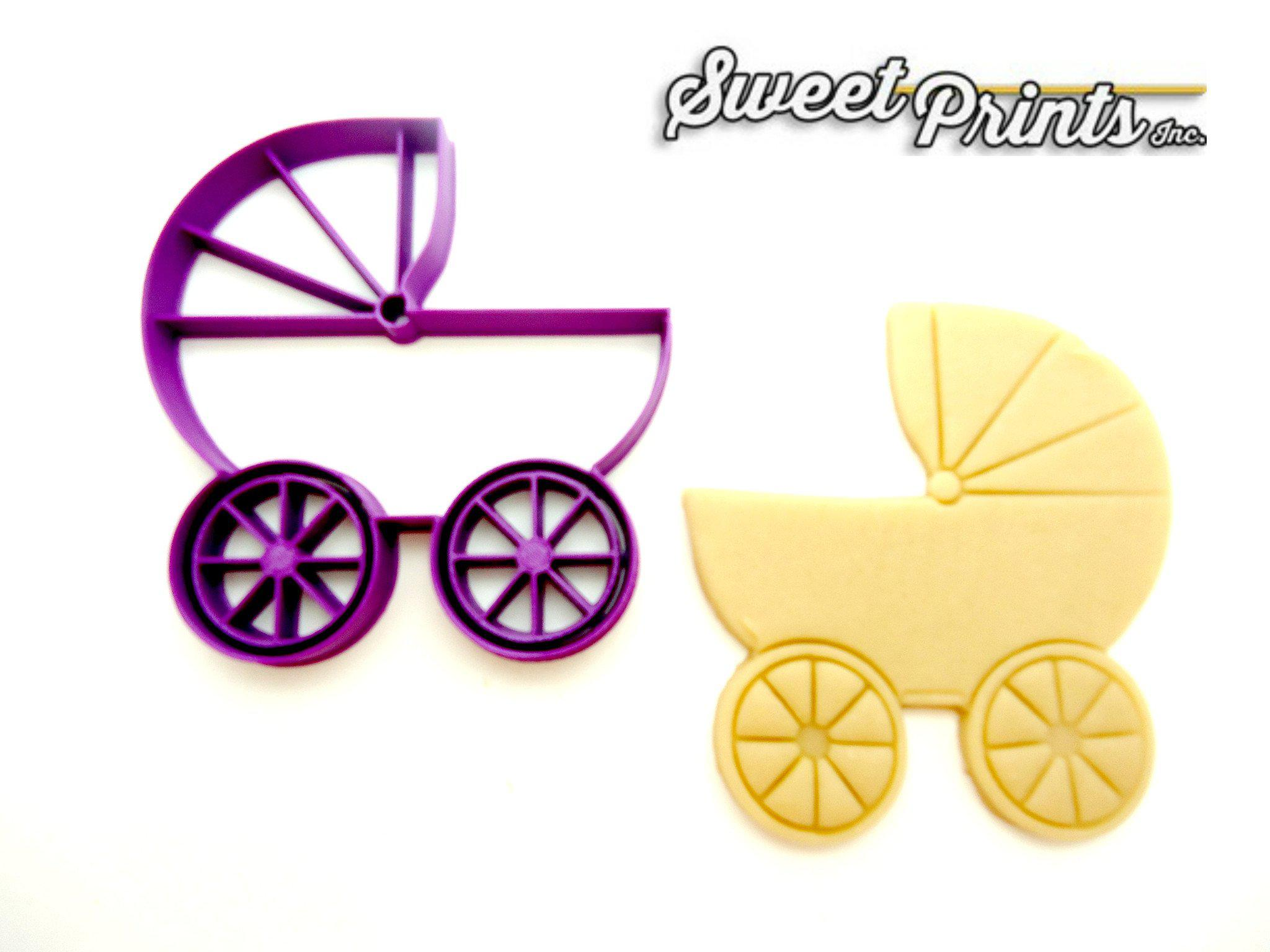 Baby Carriage Cookie Cutter/Dishwasher Safe - Sweet Prints Inc.