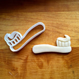 Chunky Toothbrush with Paste Cookie Cutter/Dishwasher Safe