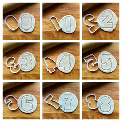 Set of 9 Fun Numbers/0-9/Cookie Cutters/Dishwasher Safe