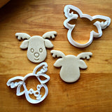 Set of 2 Reindeer Cookie Cutters/Dishwasher Safe