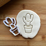 Smiling Tall Cactus Cookie Cutter/Dishwasher Safe