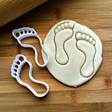Set of 2 Foot Print Cookie Cutters/Dishwasher Safe