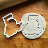 Set of 5 Lettered Number Cutters 1-5/Dishwasher Safe