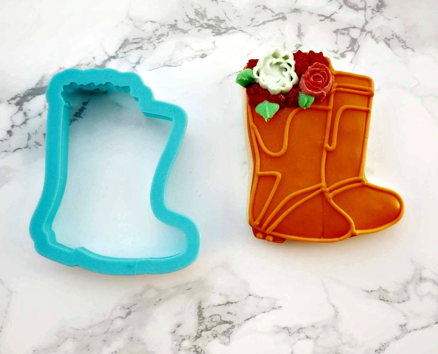 Rain Boots with Flowers Cookie Cutter/Dishwasher Safe