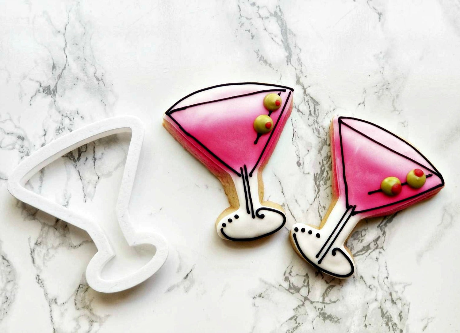 Martini Glass Cookie Cutter/Dishwasher Safe