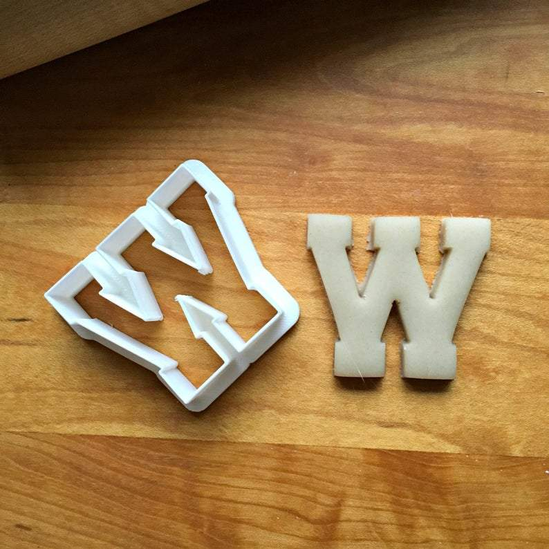 Varsity Letter W Cookie Cutter/Dishwasher Safe