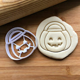 Jack-O-Lantern Bucket Cookie Cutter/Dishwasher Safe