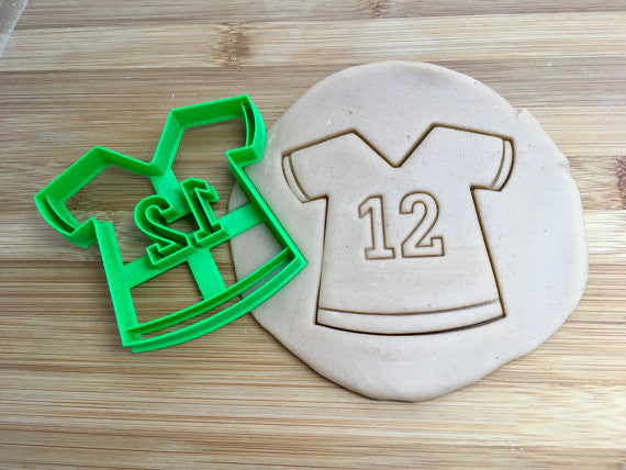 Number 12 Jersey Cookie Cutter