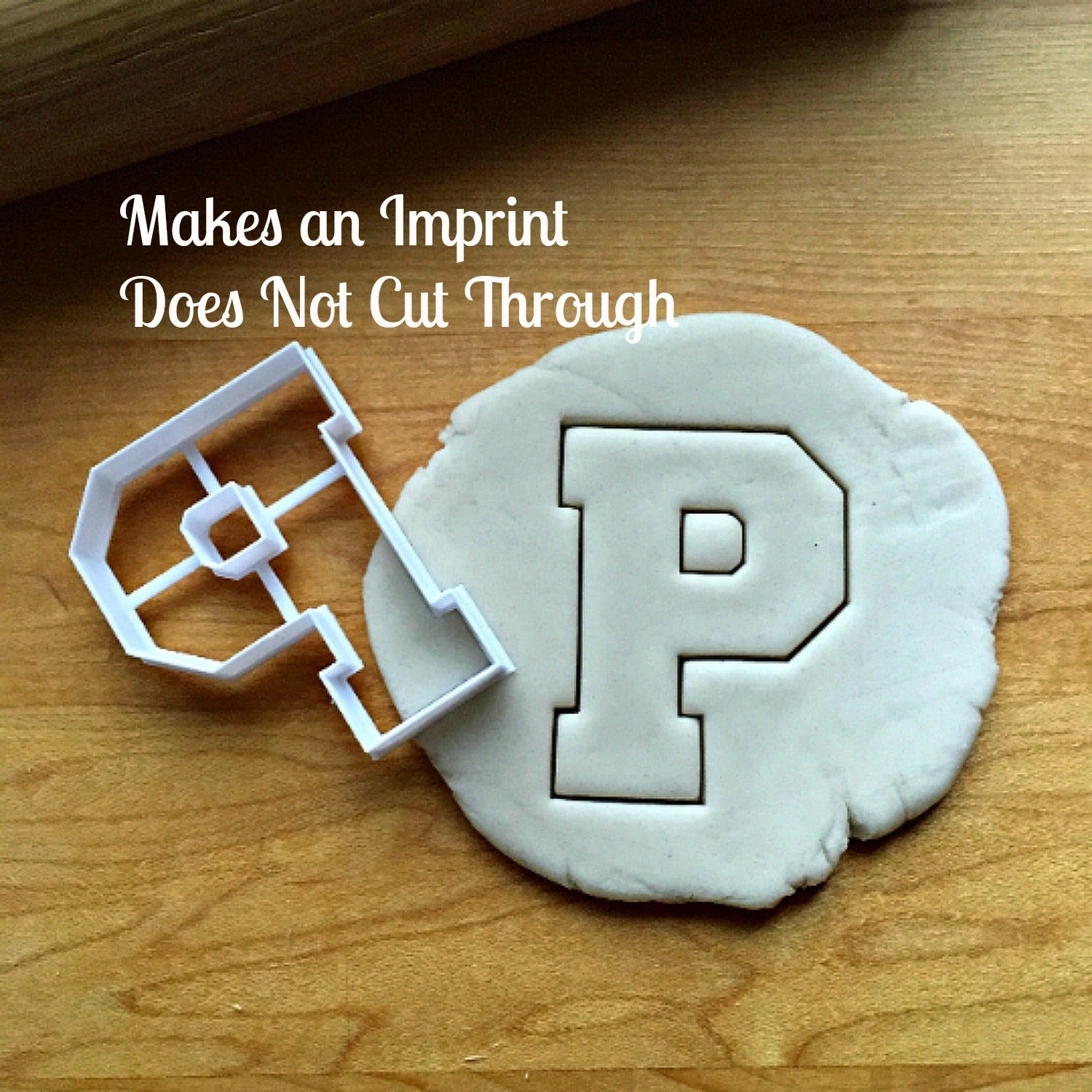 Varsity Letter P Cookie Cutter/Dishwasher Safe