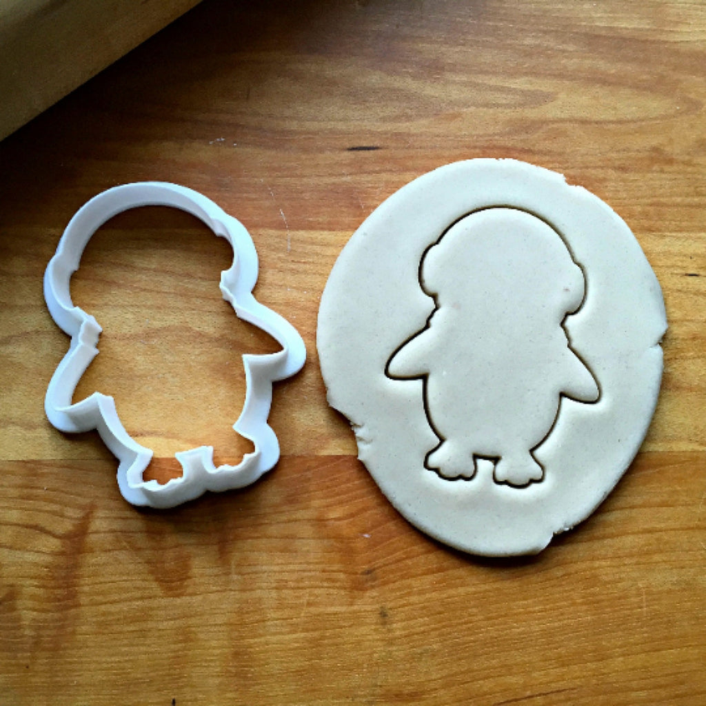 Penguin with Earmuffs Cookie Cutter/Dishwasher Safe