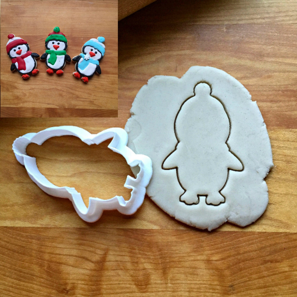Penguin with Hat Cookie Cutter/Dishwasher Safe
