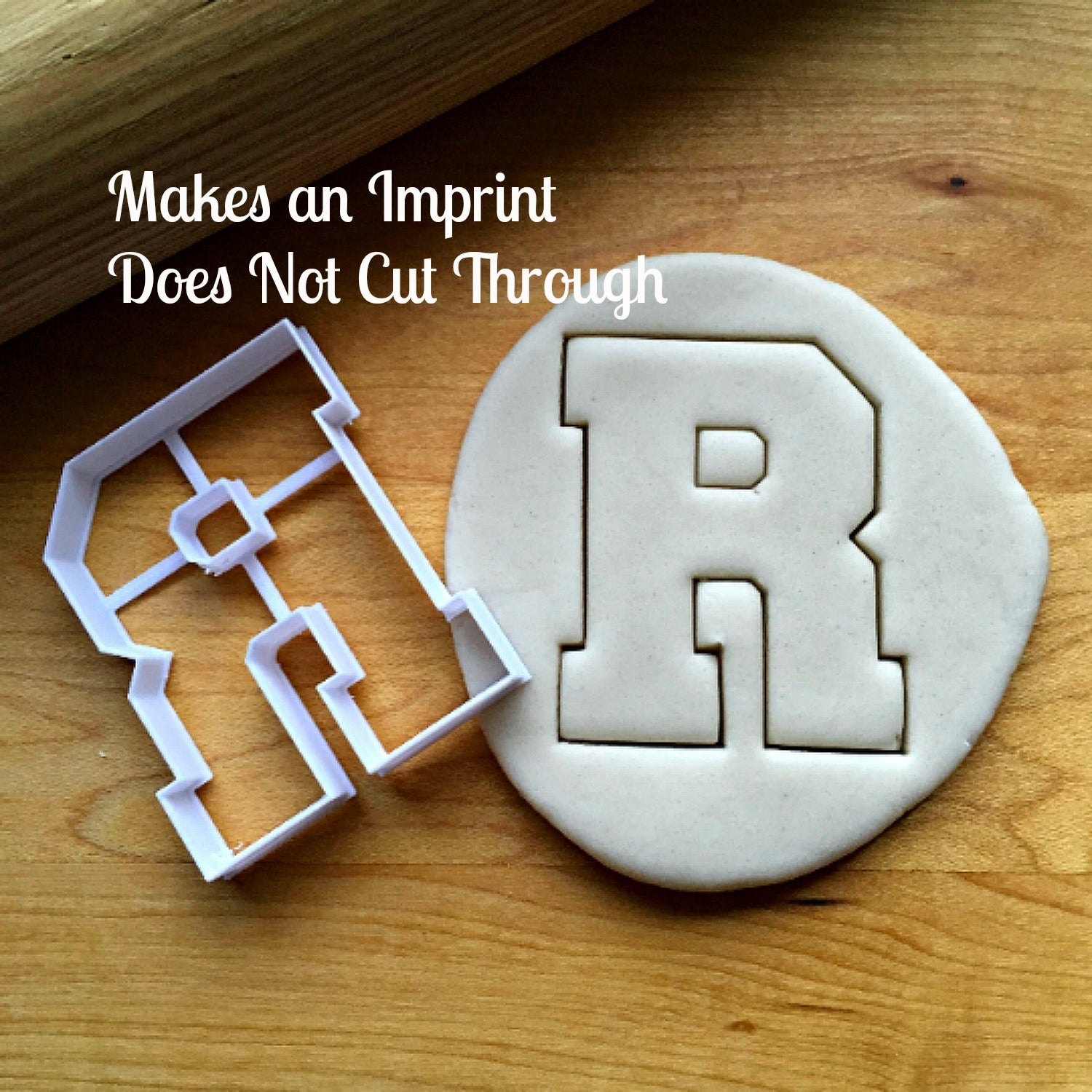 Varsity Letter R Cookie Cutter/Dishwasher Safe