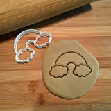 Rainbow with Clouds Cookie Cutter/Dishwasher Safe