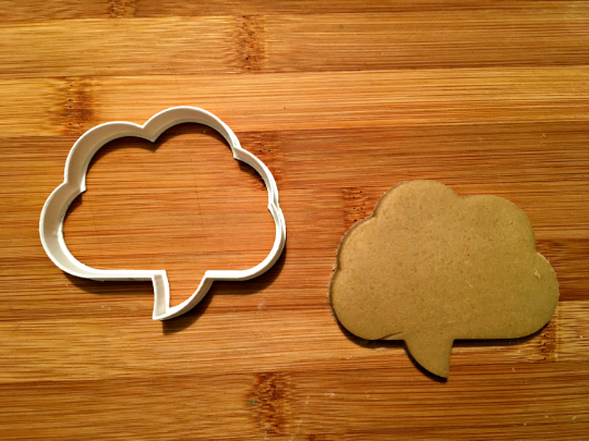 Speech Bubble Cookie Cutter/Dishwasher Safe