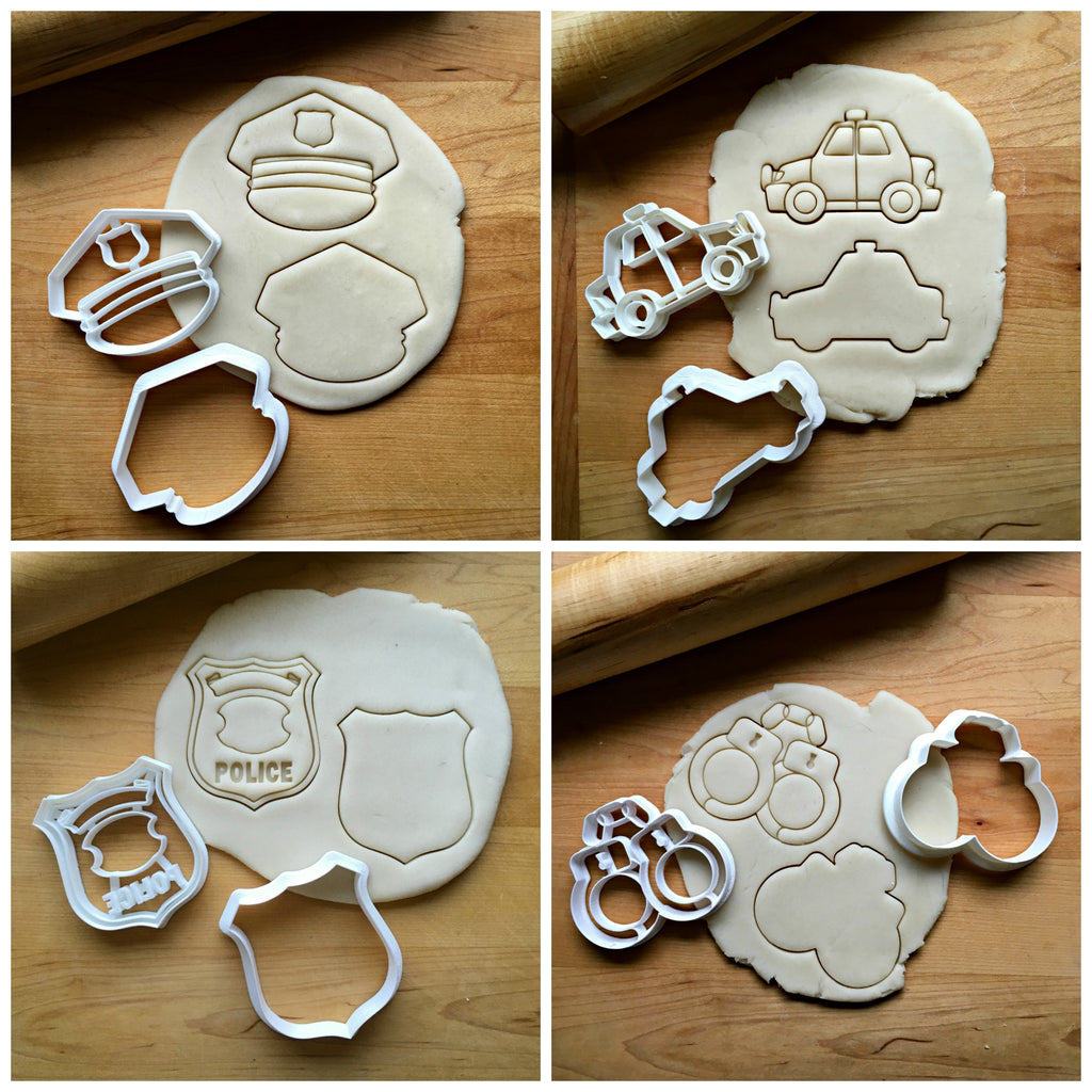 Set of 8 Police Cookie Cutters/Dishwasher Safe