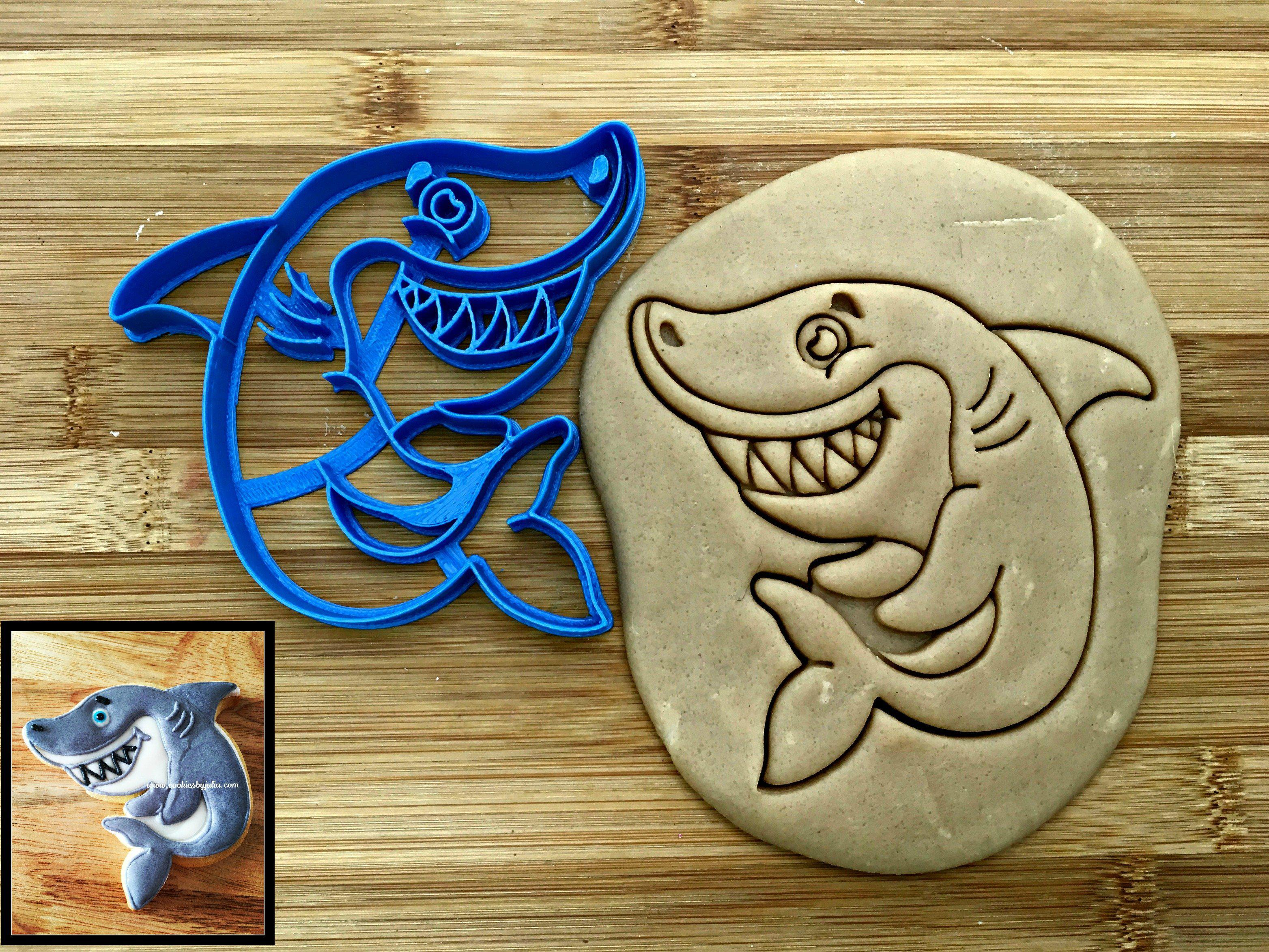 Smiling Shark Cookie Cutter/Dishwasher Safe