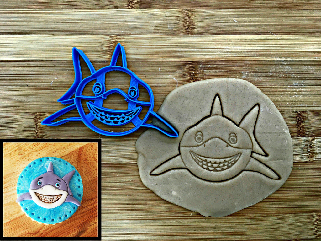 Smiling Shark Face Cookie Cutter